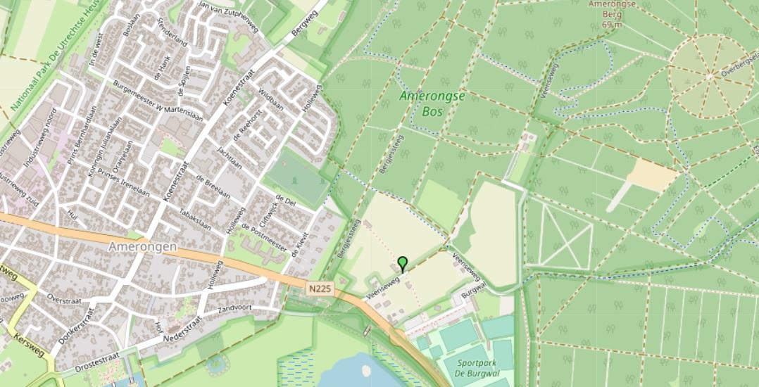 Kaart locatie Veenseweg